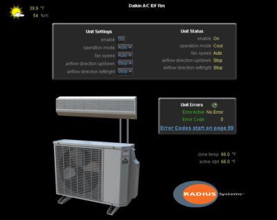 Radius Systems, Daikin, VRF, VRF, IntesisBox, Radius Systems, WebCTRL, Automated Logic, BAS, Building Automation