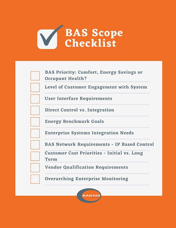 BAS, Radius Systems, BAS Specification